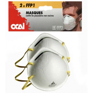 Masque de protection FFP1 EN 149 en sachet de 2 masques